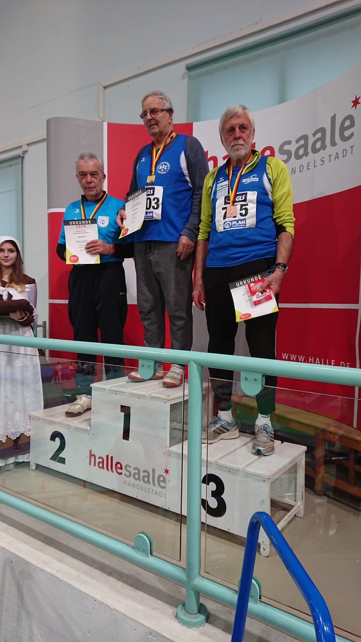 Deutsche Hallen-Meisterschaften der Senioren mit Winterwurf