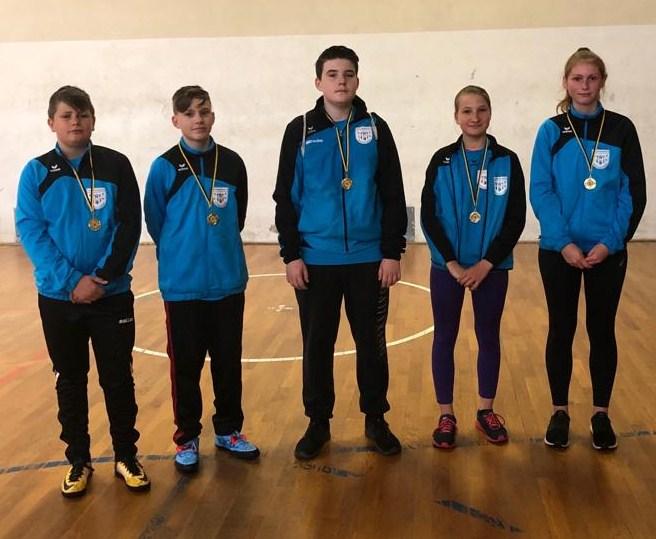 Wurf- und Laufteam bei den Bezirksmeisterschaften