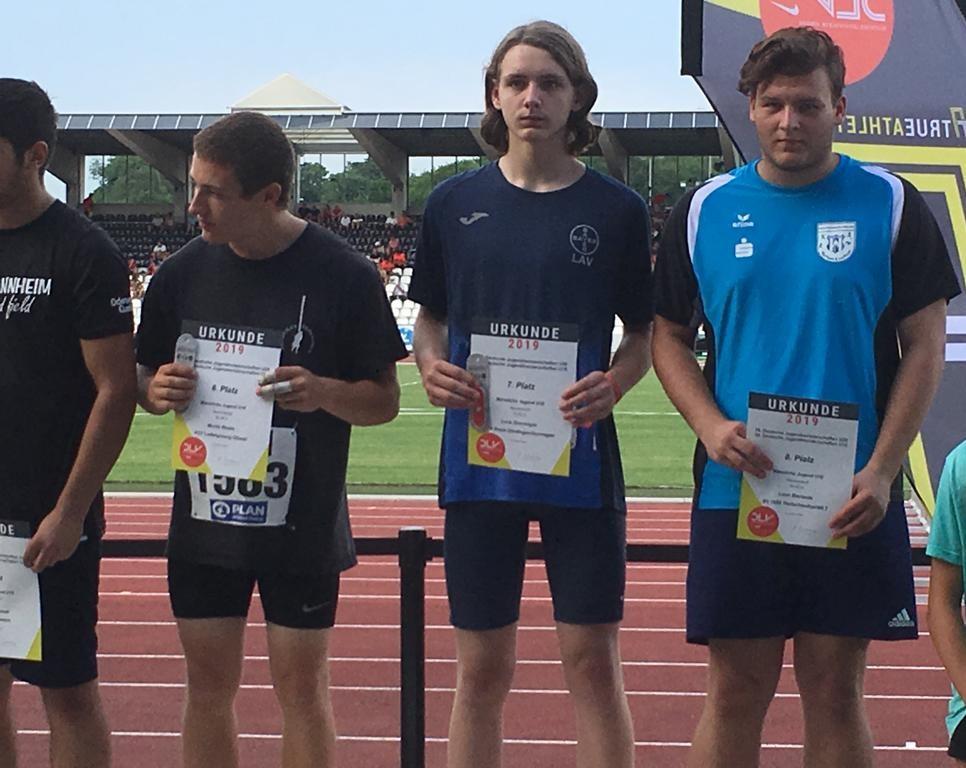 WLT-Athleten bei den Deutschen Meisterschaften der Jugend